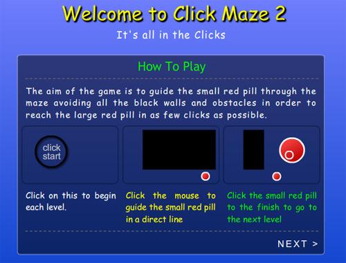 click maze 2 maze games