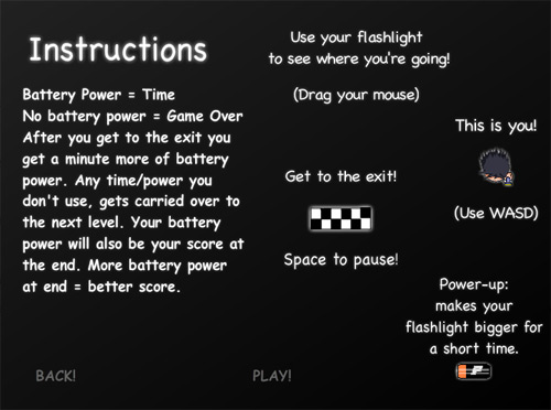 Maze of Darkness Instructions